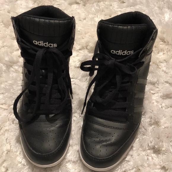Adidas NEO Black Super Wedge Sneakers